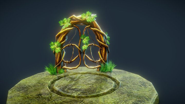 Life door for The Forestale (game) 3D Model
