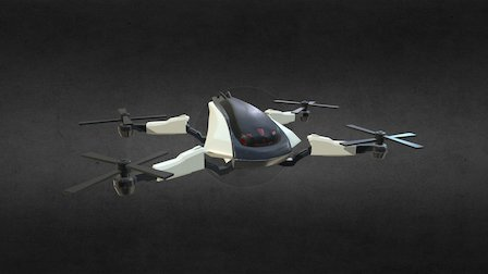 Drone - Mech Hunter 3D Model