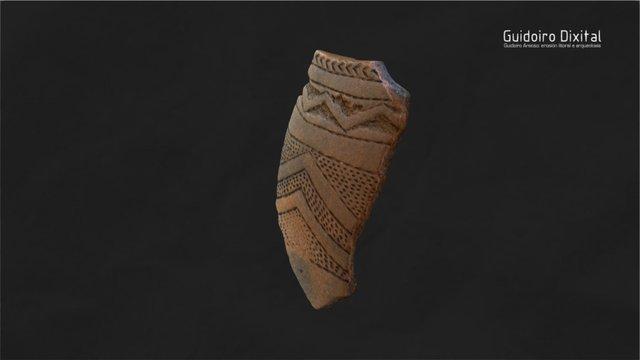 Guidoiro Areoso - Fragmento cazola decorada 3D Model
