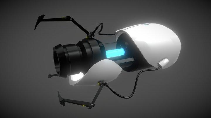 Aperture Portal Gun 3D Model