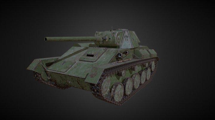 T-70 LowPoly GameReady Tank 3D Model