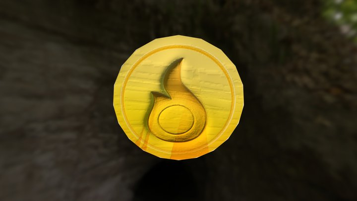 Game Coin 3D Model