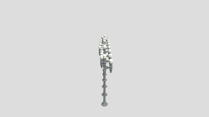Street Light Poles Pack Type2 3D Model