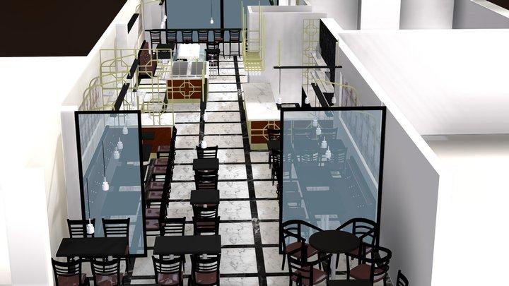 china restaurant 3D Model