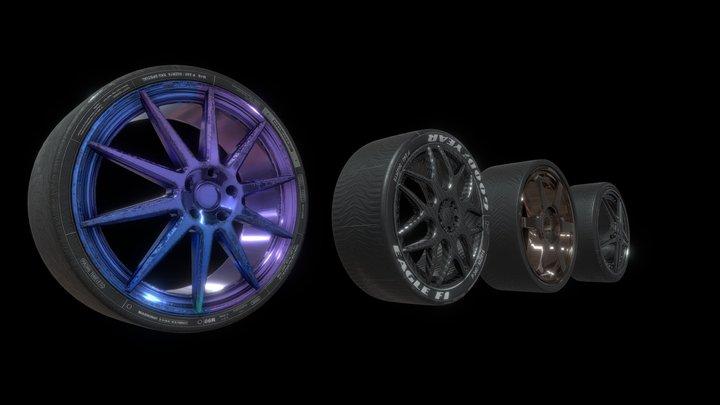 Wheels and Tires Pack v1 3D Model