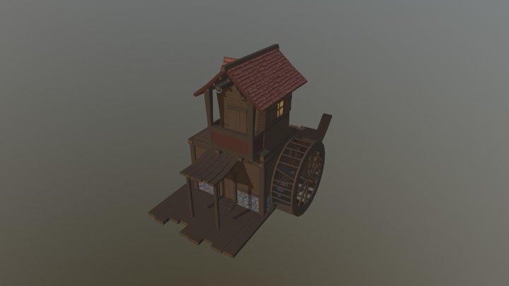 Little house watermill 3D Model
