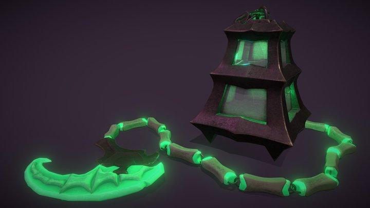 Thresh - lantern and scythe 3D Model