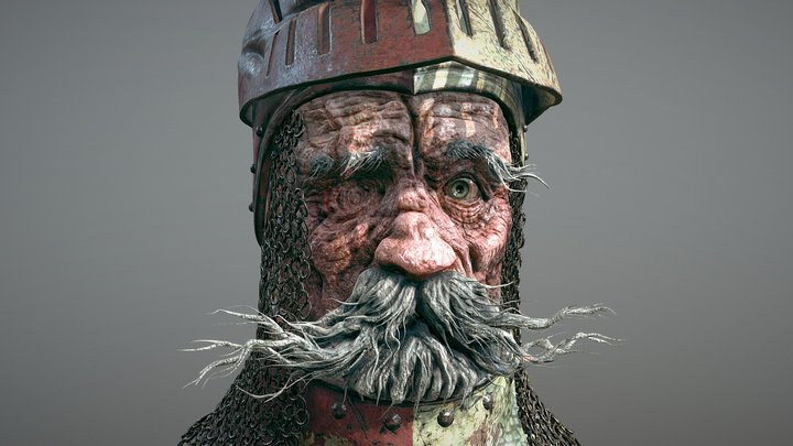 'The Old Knight' 3D Model