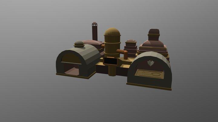 Steam Powered Furnace 3D Model