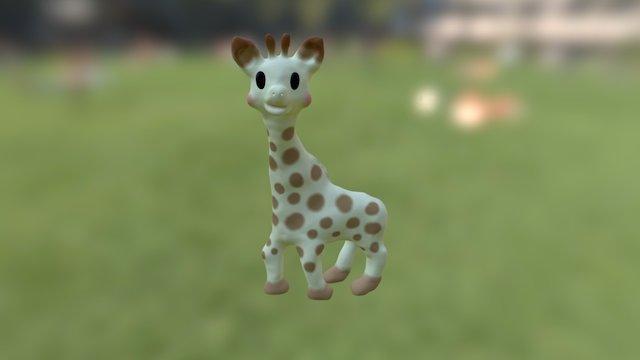 Sophie the Giraffe 3D Model
