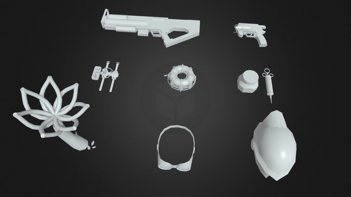 Homework 3. Quick drafts from game 3D Model