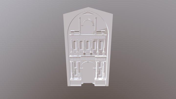 Portada grande de la Virgen de la Asunción 3D Model