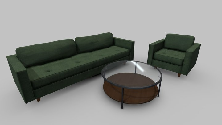 The Sofa, The Chair and the Table 3D Model