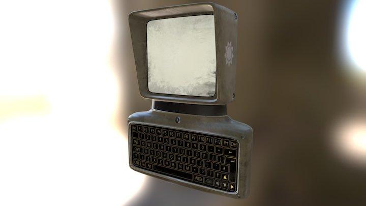 Retro style computer 3D Model