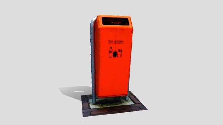 public dutch trashcan 03 3D Model