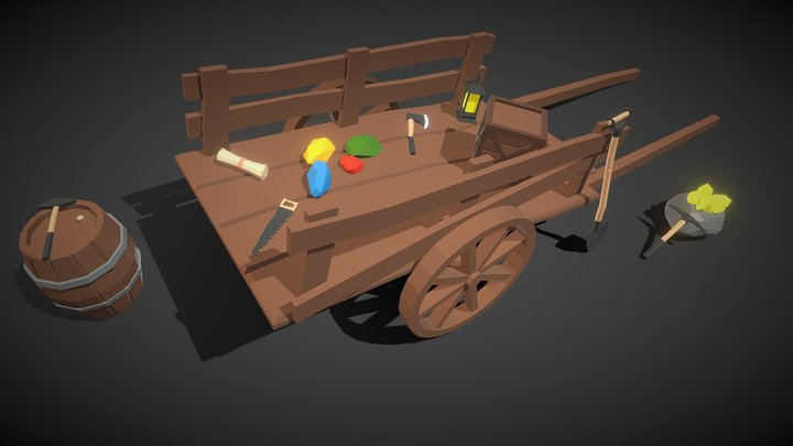 Free Low Poly Mining Assets 3D Model