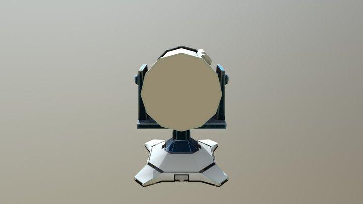 si- fi Turret 3D Model