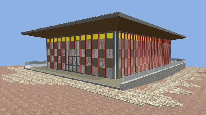 Constructo Gimnasio 3D Model