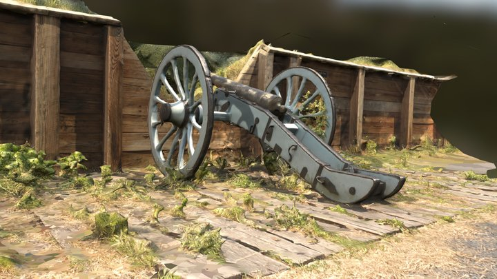 Photogammetry of Canon at Valley Forge Redoubt 3D Model