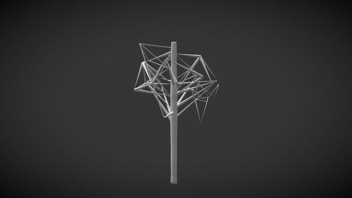 Geometric Tree 3D Model