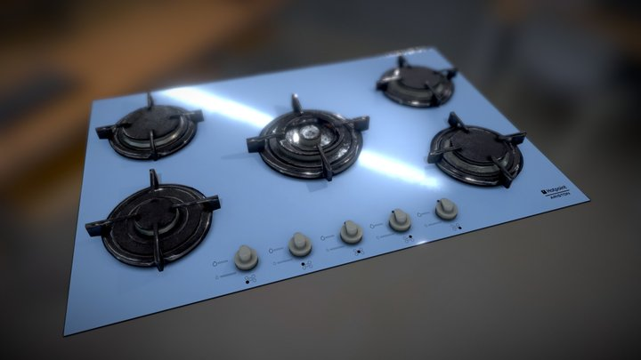 Kitchen Hob 3D Model