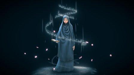Syar'i hijab 3D Model