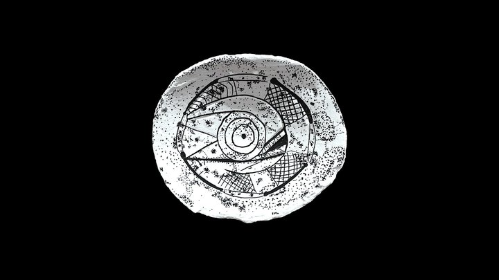 Shell Gorget Drawing 3D Model