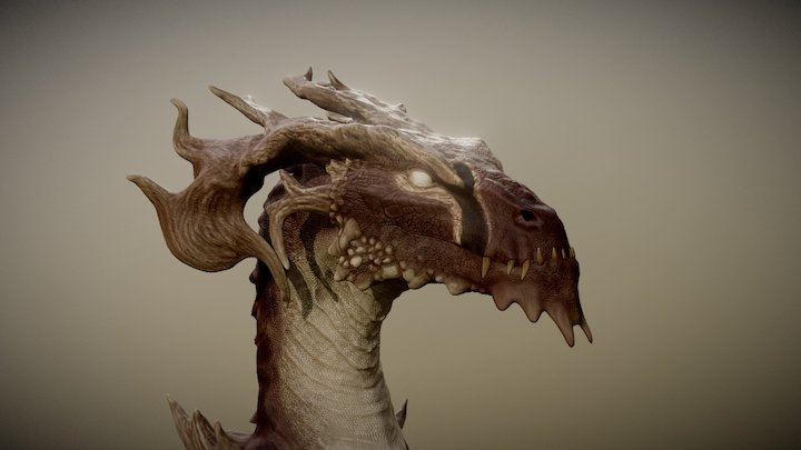 Ancient Forest Drake 3D Model