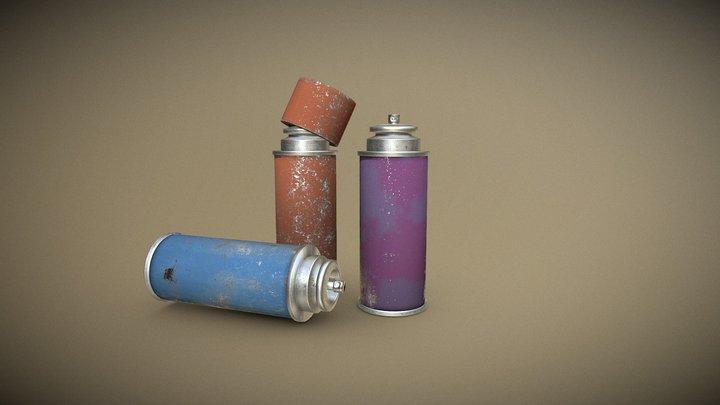Spray Can 3D Model