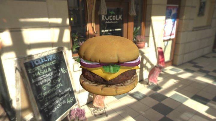 Exploding Cheeseburger 3D Model