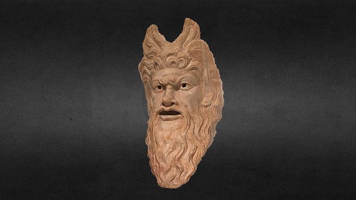 Máscara del Dios Pan 26-75 d.C 3D Model