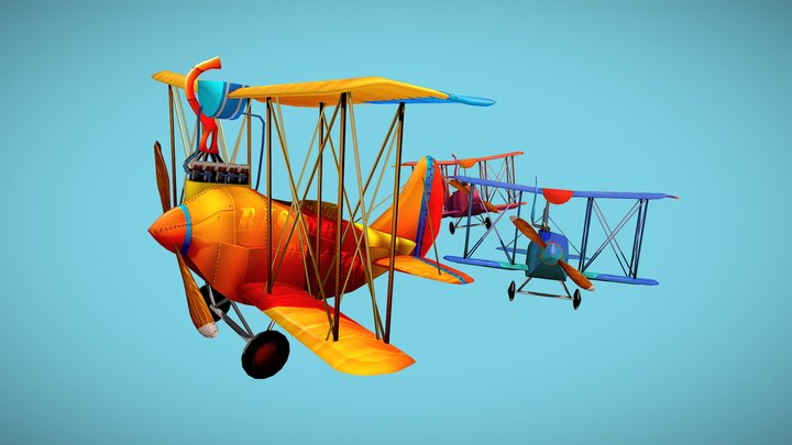 The Flying Trio 3D Model