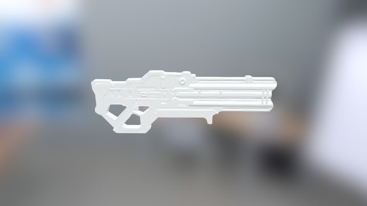 Sci-fi rifle idea 3D Model