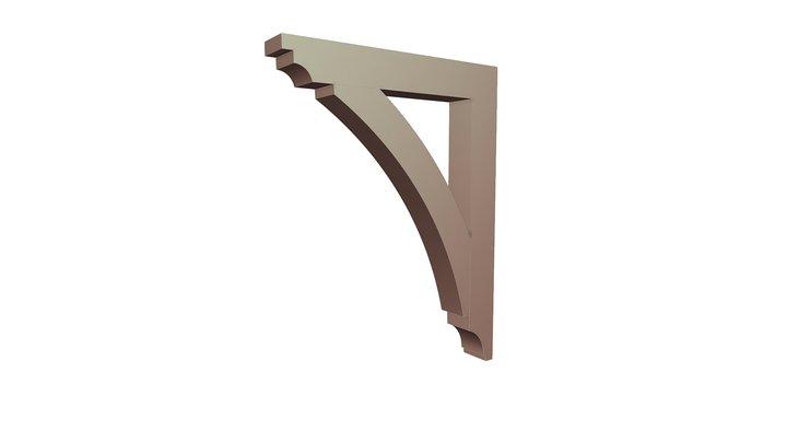 Wood Bracket 16T7 36 x 47 3D Model