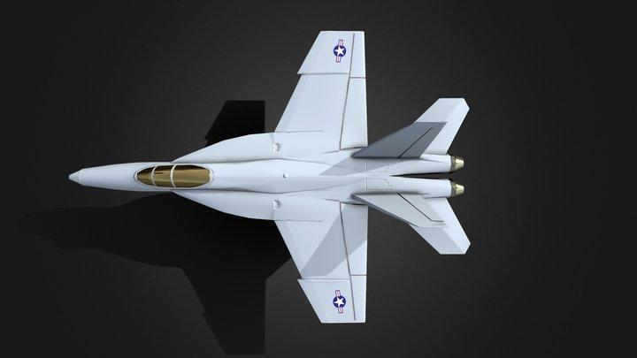 FA18 Hornet 3D Model