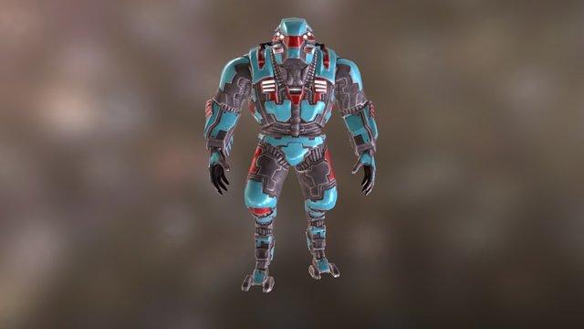 Heavy Assault Robot - FLAUROS Mk I 3D Model