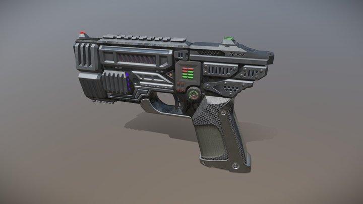 FC-451 Energy Pistol 3D Model