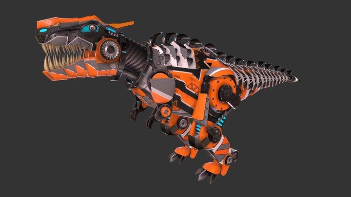 T-Rex mech 3D Model