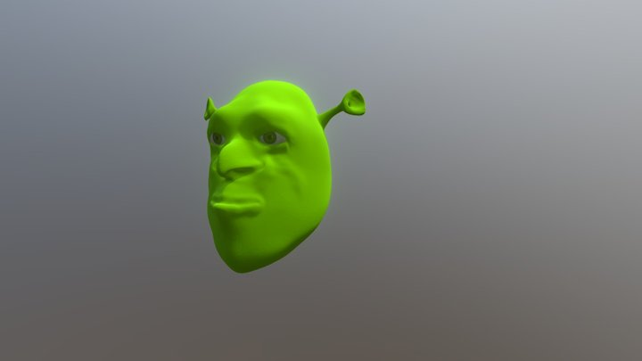 Shrek Head 3D Model