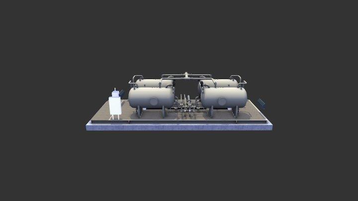 Multi-Pak (Quad) -- Modular 3-Phase Separator 3D Model