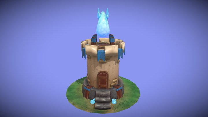 Stylized Magical Tower 3D Model