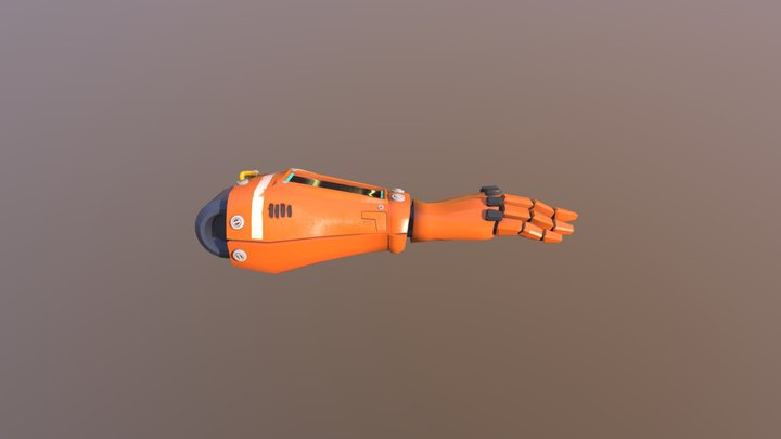 Robot Drone Arm for VR 3D Model