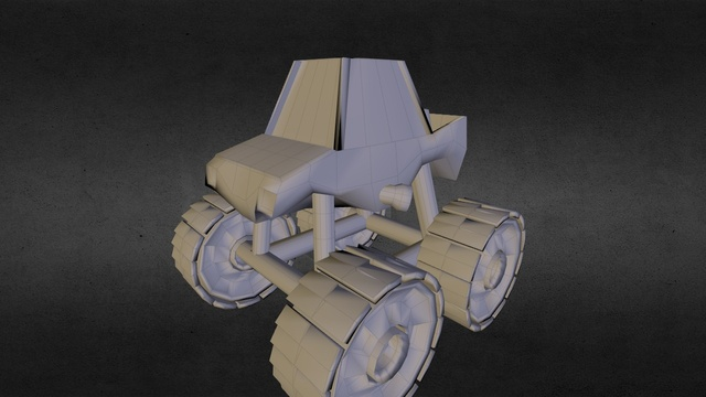 Monstertruck - Low Poly 3D Model