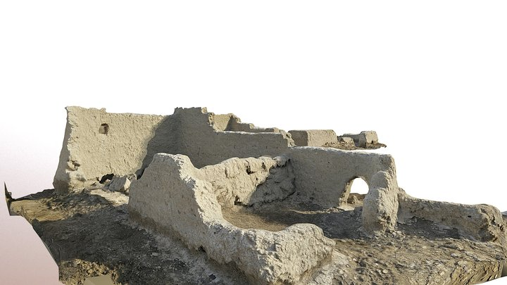 Abandoned house, Tell Surghul (Iraq) 3D Model