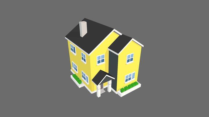 Suburb House 1 3D Model