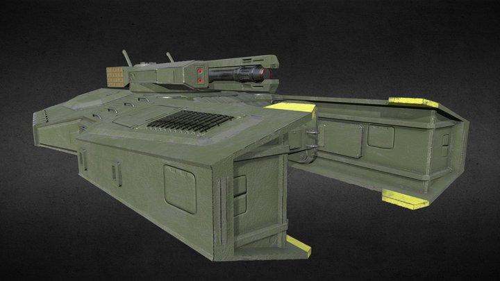 Antigravity Tank 3D Model