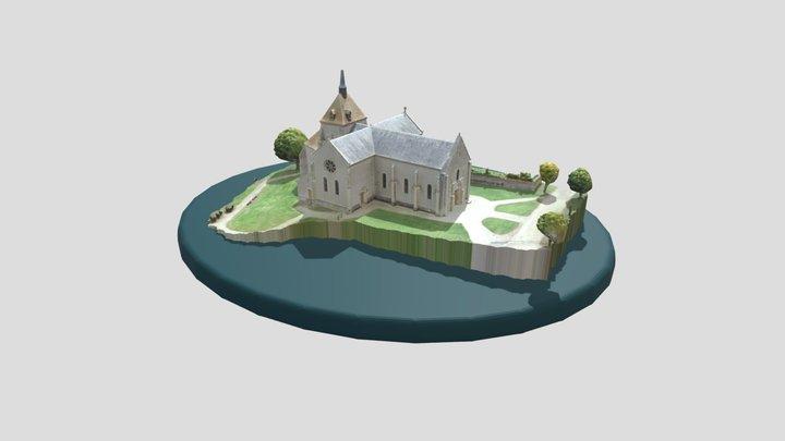 Eglise de Saint-Parize le Châtel 3D Model