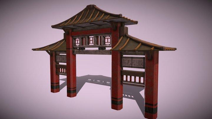 Asian Gate 3D Model