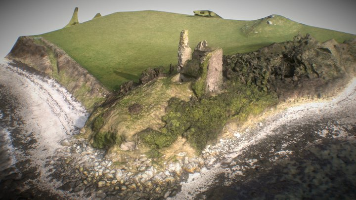 Inch Castle, Inch Island, Donegal, Ireland 3D Model
