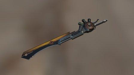 Sci Fi sword 3D Model